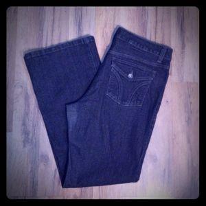 DKNY Soho boot cut dark black wash jeans